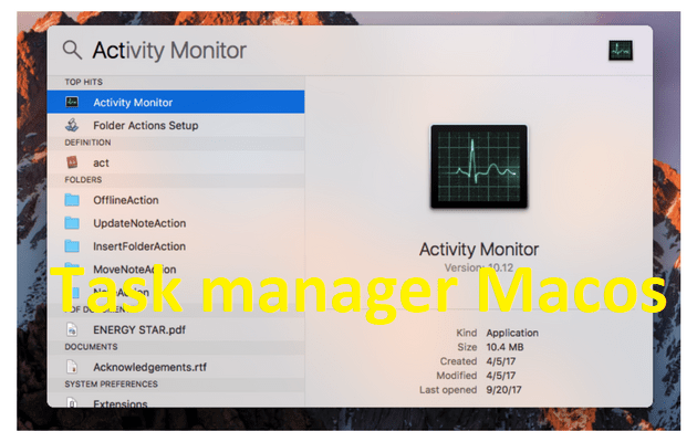 Activity Moniter mac