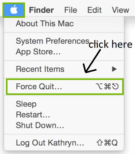 close frozen programs on mac