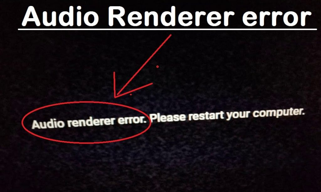 Audio renderer error youtube