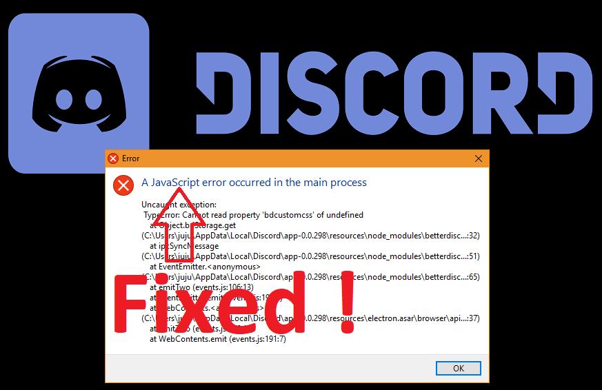 javascript Discord error