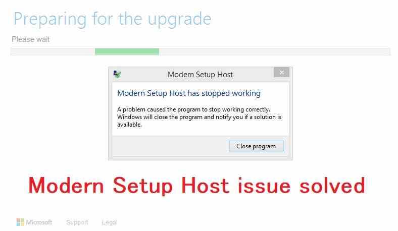 Modern setup host