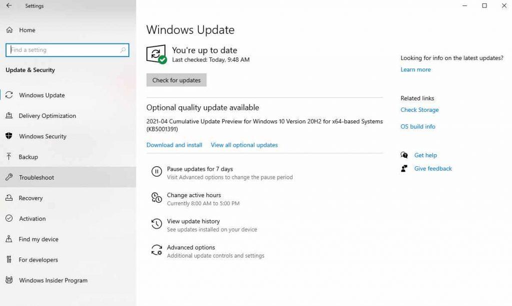 update Nvidia drivers in Windows 10
