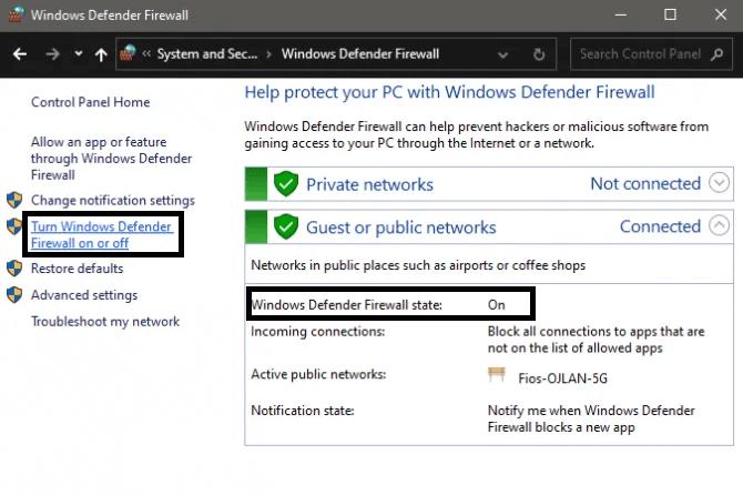 Windows firewall or anti-virus program is blocking the signal